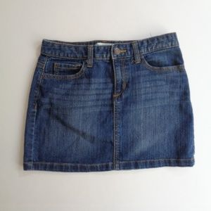 "OLD NAVY Blue Jean Skirt Womans Jr's 27""W Size 14"